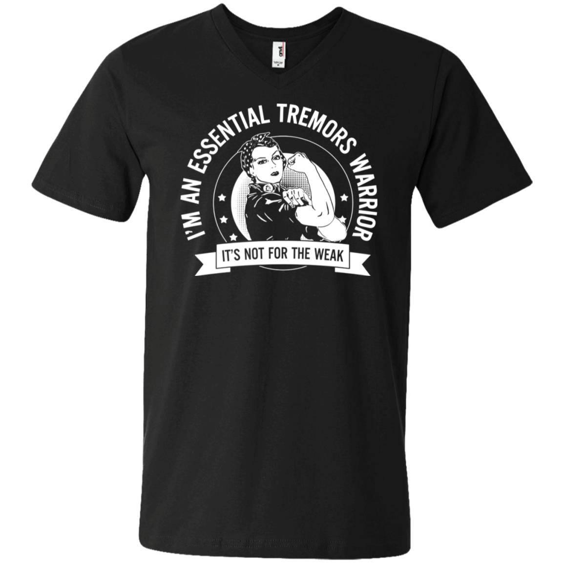 Essential Tremors – ET Warrior Skull Men's V-Neck Shirt