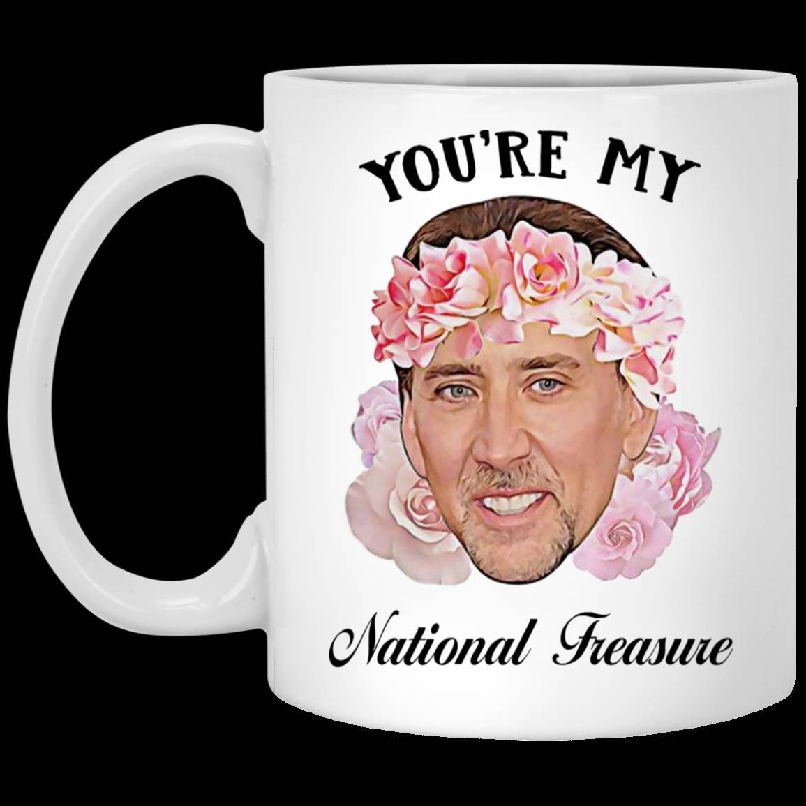 Nicolas Cage You're My National Treasure – Tea Coffee Mugs