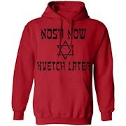 Nosh Now Kvetch Later Funny Yiddish Jewish T-shirt