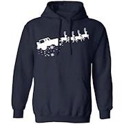 Santa Sleigh Jeep Reindeer Christmas T-Shirt Hoodie