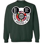 Drink Around the World – EPCOT Checklist – Crewneck Pullover Sweatshirt