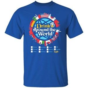 Drinking Around The World Epcot T-Shirt for Men, Women