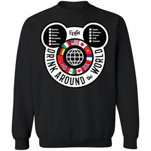 Drink Around the World Crewneck Pullover Sweatshirt