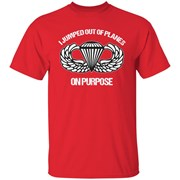 I jumped out of planes on purpose, Airborne T-Shirt for Men, Women