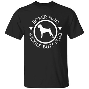 Boxer Mom Wiggle Butt Club T-Shirt for Women