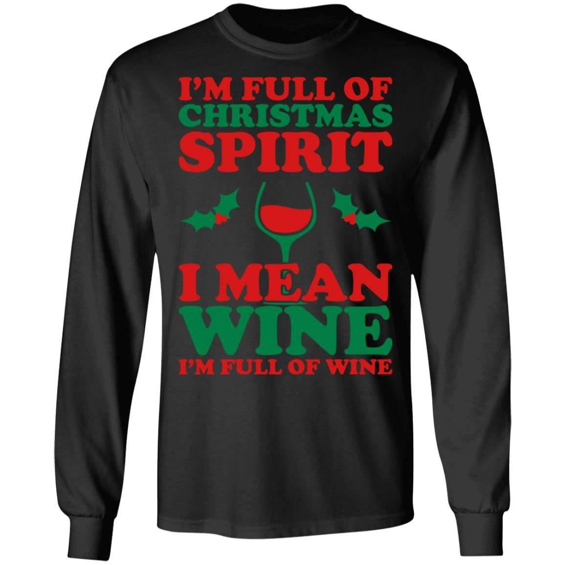 224 Christmas Spirit Wine – Women_s T-S G240 Gildan LS Ultra Cotton T-Shirt