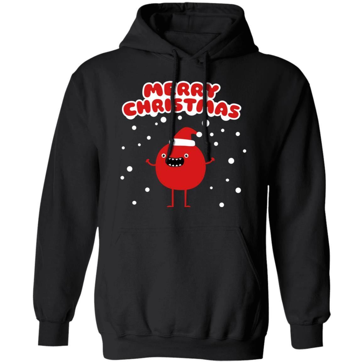 224 Funny Santa Claus – Merry Christmas – Eco-Friendly Cotton G185 Gildan Pullover Hoodie 8 oz.