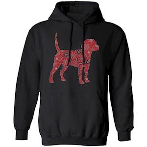 221 – Christmas Boho Red Beagle T shirt G185 Gildan Pullover Hoodie 8 oz.