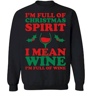 224 Christmas Spirit Wine – Women_s T-S G180 Gildan Crewneck Pullover Sweatshirt  8 oz.