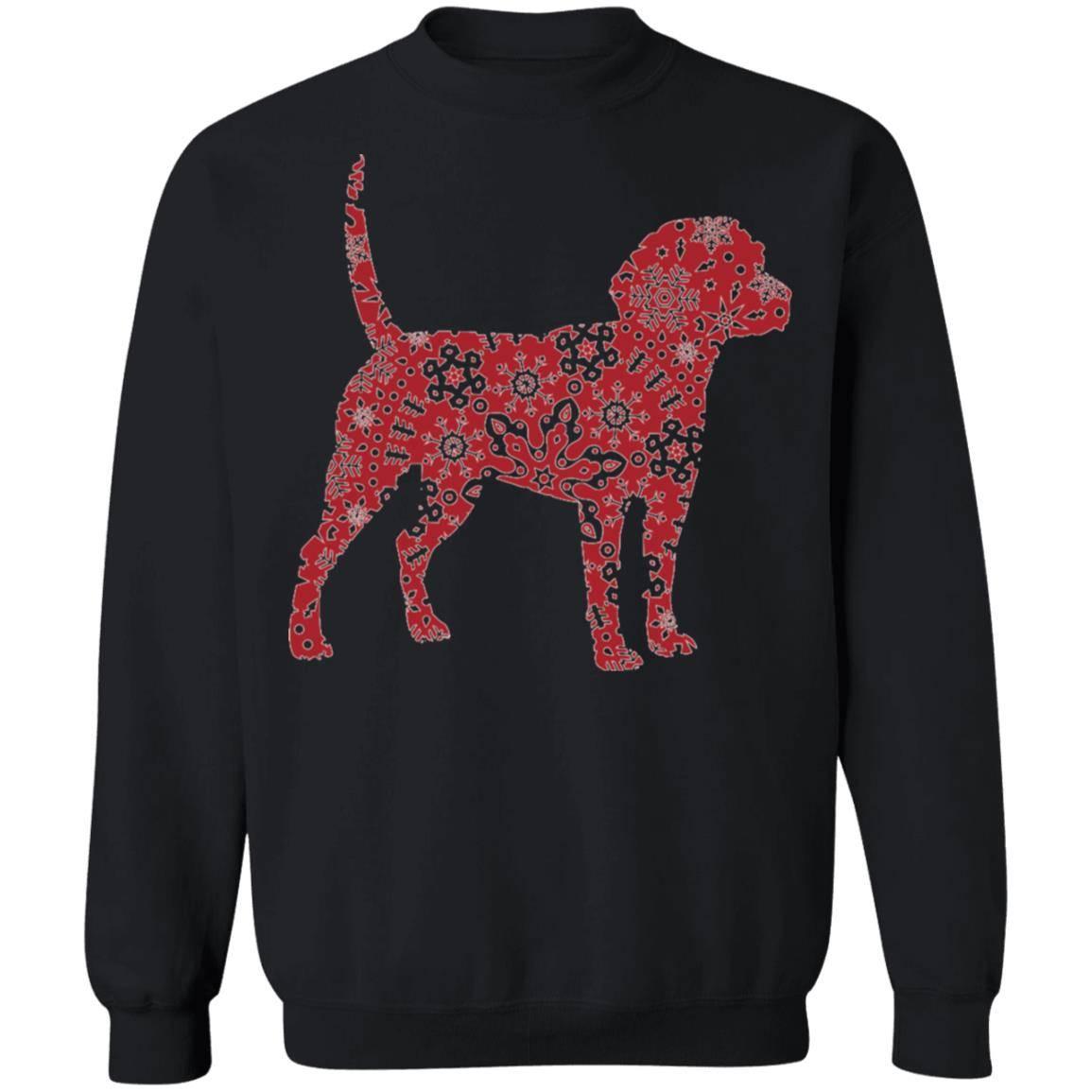 221 – Christmas Boho Red Beagle T shirt G180 Gildan Crewneck Pullover Sweatshirt  8 oz.