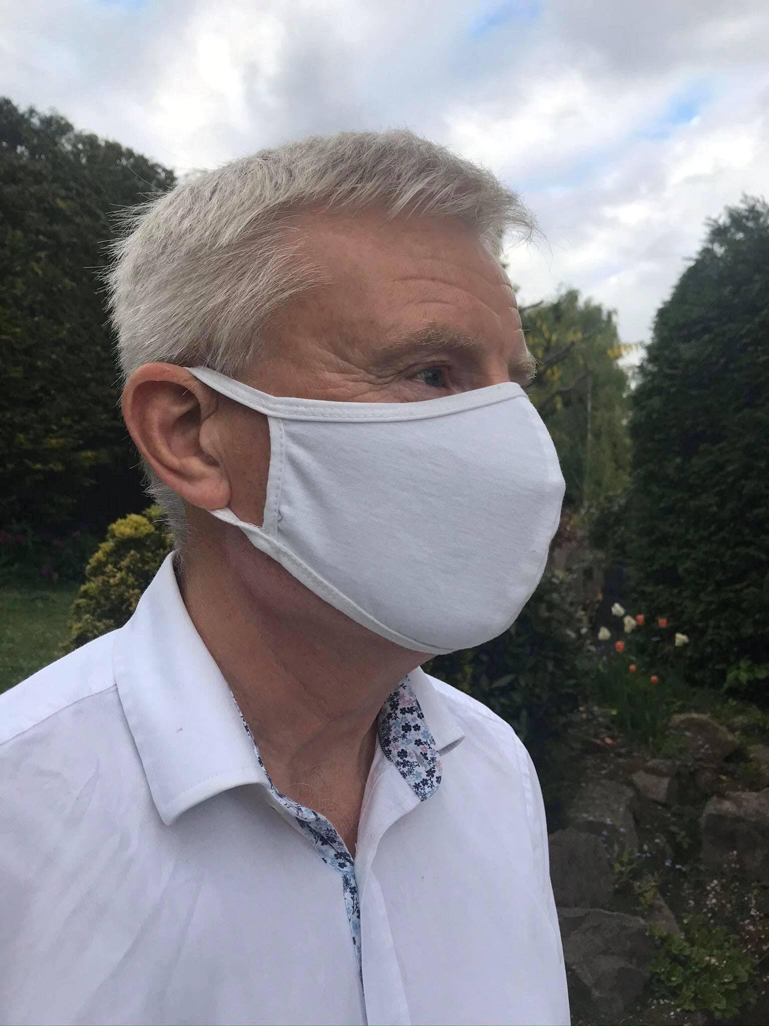 Reusable Cotton Face Masks – Black & White